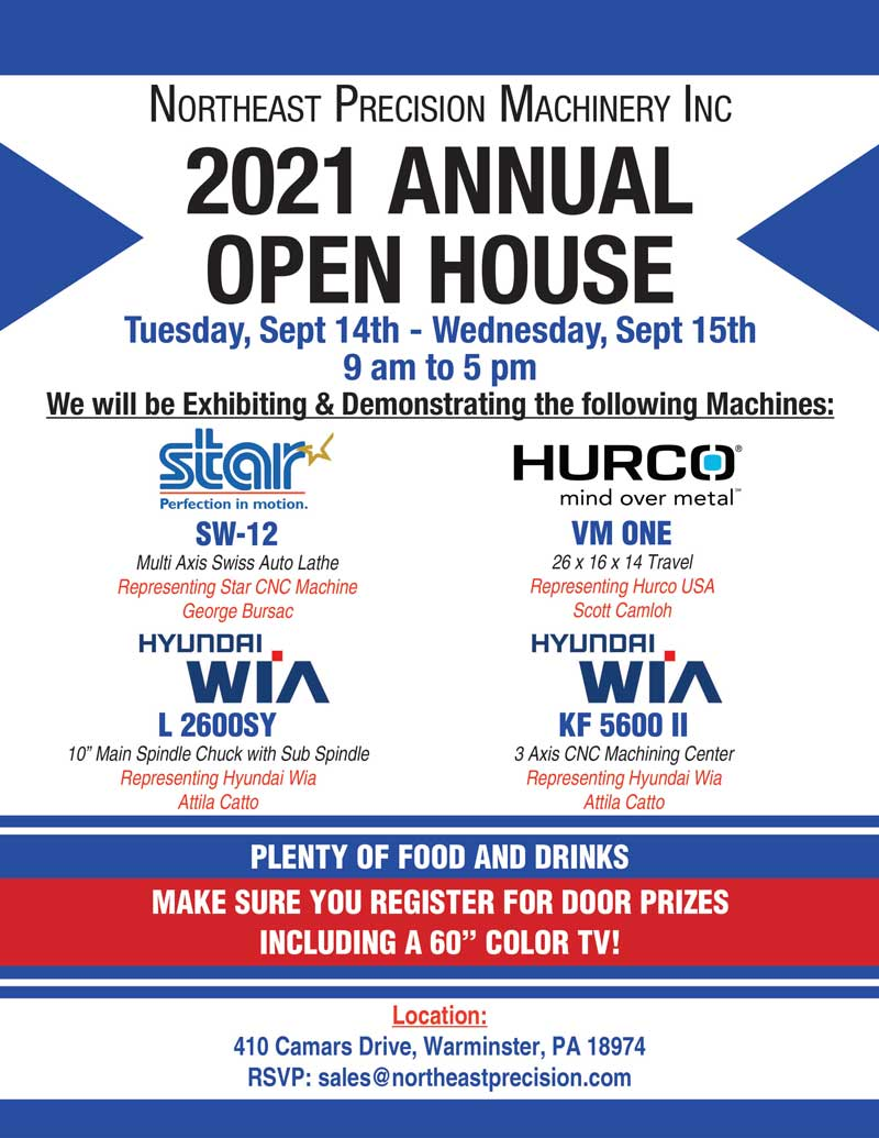 Northeast-Precision-Machinery—Open-House-2021-Flyer
